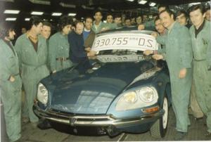 Le 24 avril 1975, la dernière DS 23 IE (officielle) sort des chaînes.